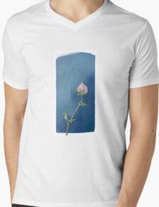 Shamrock Flower Mens V-Neck T-Shirt