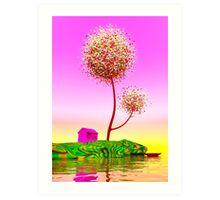 Colorful island. Art Print