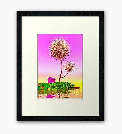 Colorful island. Framed Print
