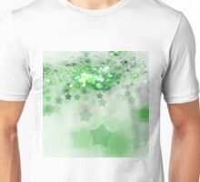 Green Stars - Abstract Fractal Artwork Unisex T-Shirt