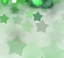 Green Stars - Abstract Fractal Artwork Sticker