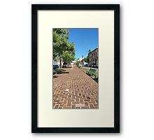 San German Plaza Puerto Rico Framed Print