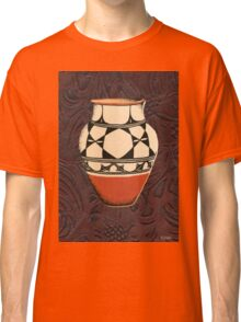 Native American Tall Pot Indian Pottery Leather Classic T-Shirt