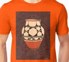 Native American Tall Pot Indian Pottery Leather Unisex T-Shirt