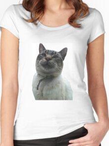 Casper the Cross Eyed Cat Women's Fitted Scoop T-Shirt