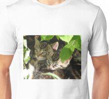 Kittens hiding Unisex T-Shirt
