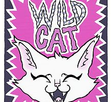 Wild Cat - pink version by blacklilypie