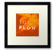 JUST FLOW Yellow Framed Print