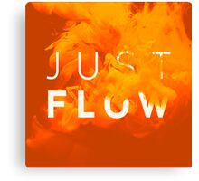 JUST FLOW Yellow Canvas Print
