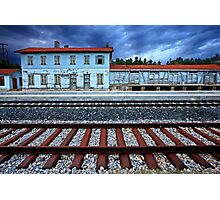 The old train station of Didymoteicho - Greece Photographic Print