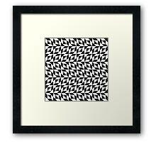 Op art pattern in black and white Framed Print