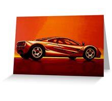 McLaren F1 Painting Greeting Card
