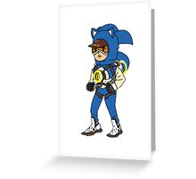 Tracer Overwatch Sonic Gotta go fast textless Greeting Card