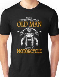 oldman with motor cycle Unisex T-Shirt