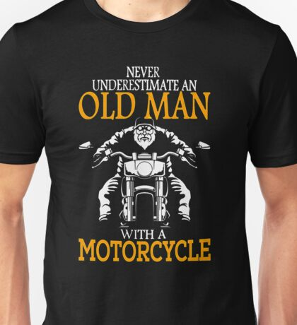 oldman with motor cycle Unisex T-Shirt