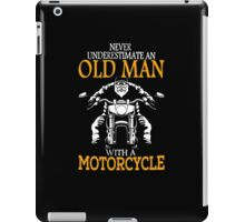 oldman with motor cycle iPad Case/Skin