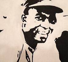 Jackie Robinson Painting by canossagraphics
