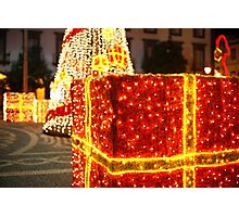 Outdoor Christmas decorations Photographic Print