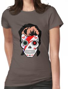 skull of bowie Womens Fitted T-Shirt
