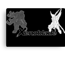 Xenoblade - bionis and mechonis Canvas Print