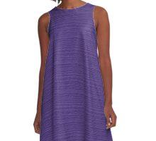 Ultra Violet Wood Grain Texture Color Accent A-Line Dress