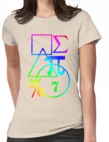 Mathematics Design Womens Fitted T-Shirt