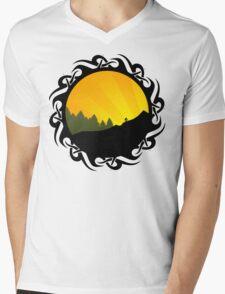 cycling tribalz Mens V-Neck T-Shirt