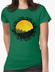 cycling tribalz Womens Fitted T-Shirt