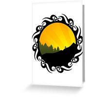 cycling tribalz Greeting Card