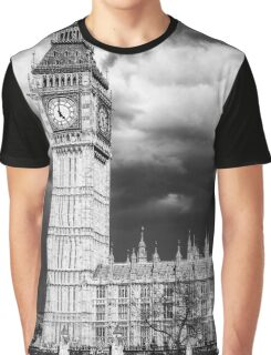 Storm Clouds Gather over Big Ben and the Houses of Parliament Graphic T-Shirt