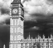 Storm Clouds Gather over Big Ben and the Houses of Parliament by Graham Prentice