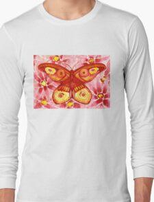 Rose Butterfly Long Sleeve T-Shirt