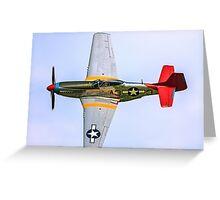 P-51D Mustang 44-72035/A3-3 G-SIJJ Greeting Card