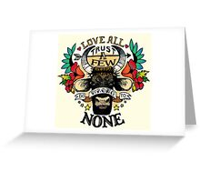 Do Wrong to None Greeting Card