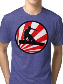 snowboard red rays Tri-blend T-Shirt