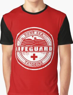 Dune Sea Lifeguard [White Distressed] Graphic T-Shirt