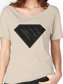 Geek Power (Black on Black Edition) Women's Relaxed Fit T-Shirt