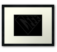 Geek Power (Black on Black Edition) Framed Print