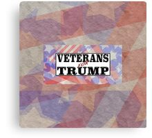 VETERANS for TRUMP with flag background Canvas Print