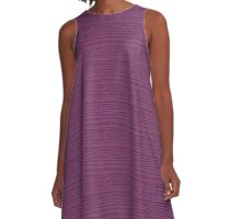 Amethyst Wood Grain Texture Color Accent A-Line Dress