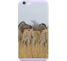 Zebra - African Wildlife Background - Feel the love  iPhone Case/Skin