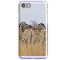 Zebra - African Wildlife Background - Feel the love  iPhone Case/Skin