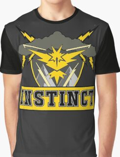 Pokemon Go Team Instinct Logo Graphic T-Shirt