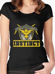 Pokemon Go Team Instinct Logo Women's Fitted Scoop T-Shirt