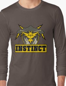 Pokemon Go Team Instinct Logo Long Sleeve T-Shirt