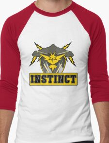 Pokemon Go Team Instinct Logo Men's Baseball ¾ T-Shirt