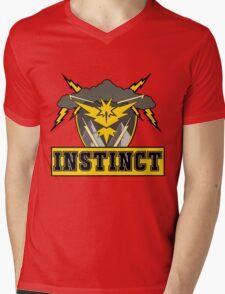 Pokemon Go Team Instinct Logo Mens V-Neck T-Shirt