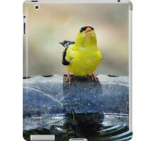 thirsty goldfinch... iPad Case/Skin