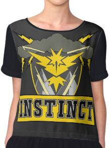 Pokemon Go Team Instinct Logo Chiffon Top