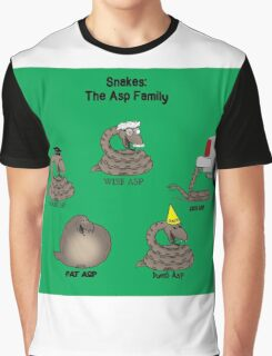 Snakes in the Asp Family Graphic T-Shirt